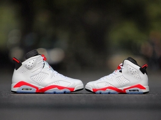"Air Jordan 6 Retro ""Infrared"" in Mens and GS Sizes"