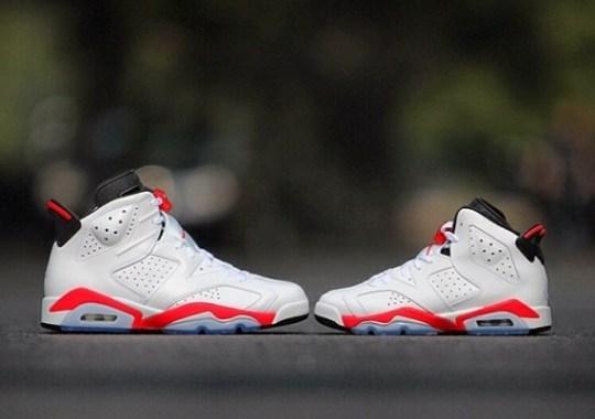 "Air Jordan 6 Retro ""Infrared"" in Mens and GS Sizes"