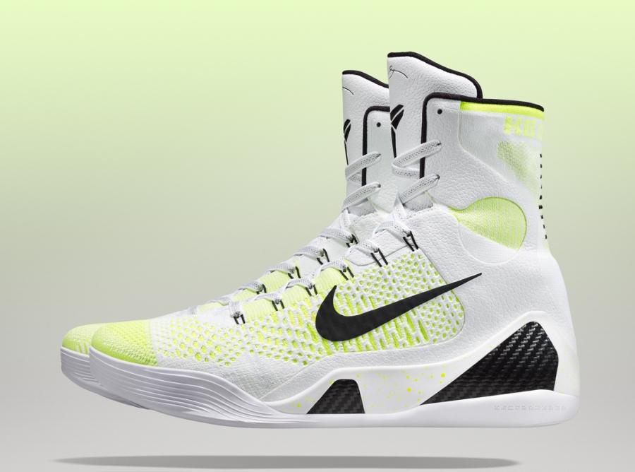 Nike Kobe Ix Elite White Black Volt Shoes