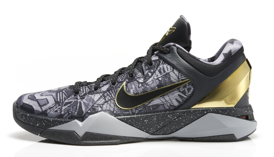 a1b9a5f0887 Nike Zoom Kobe 7 Prelude Color  Cool Grey Metallic Gold-Black Style Code   639692-001. Release Date  01 18 14. Price   200