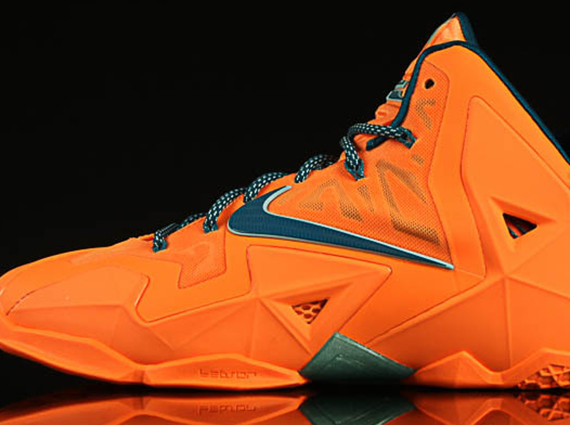 Nike LeBron 11 - Atomic Orange - Green Abyss - Glacier Ice ...