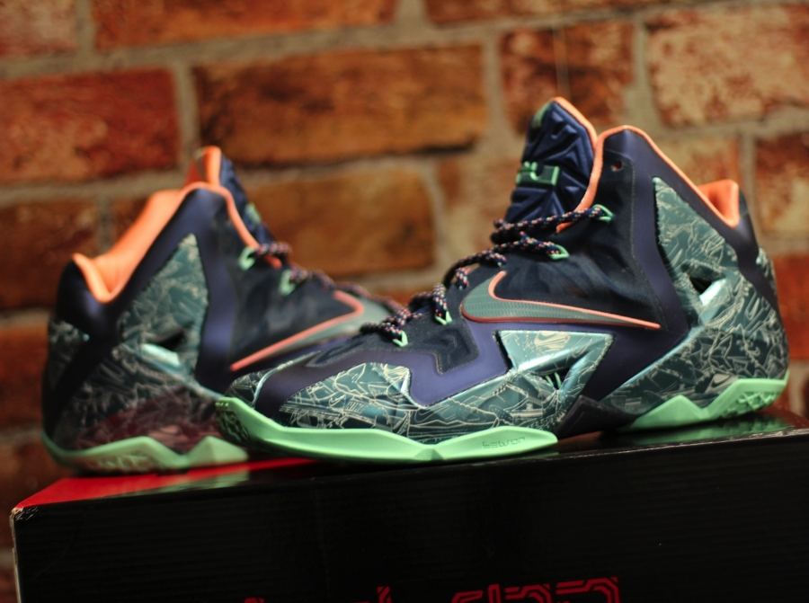 """dc272436cc54 Nike LeBron 11 """"Laser"""" Customs by Absolelute for Soley Ghost"""