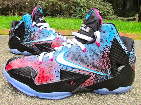 "Nike LeBron 11 ""Miami Nights Flashback"" by JustWin Customs ...Lebron 11 Customize Ideas"