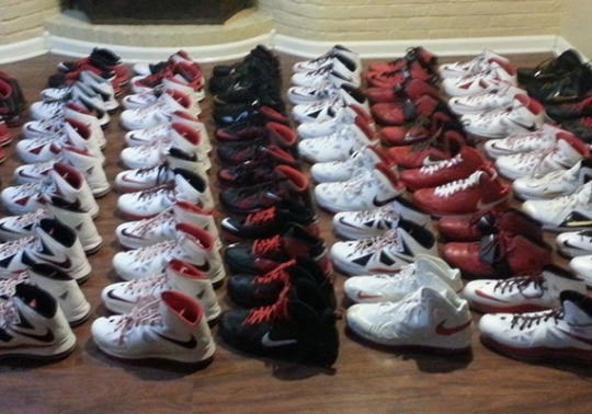 LeBron James' Personal Nike PE Collection on eBay