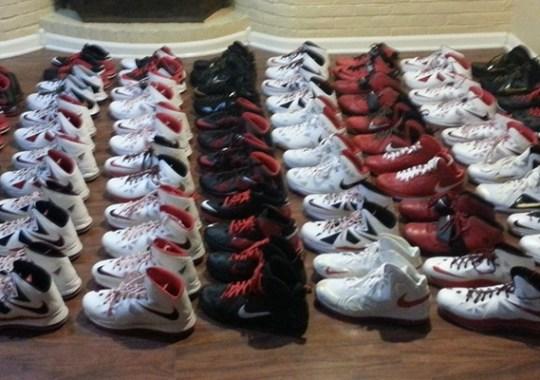 LeBron James' Personal Nike PE Collection on eBay