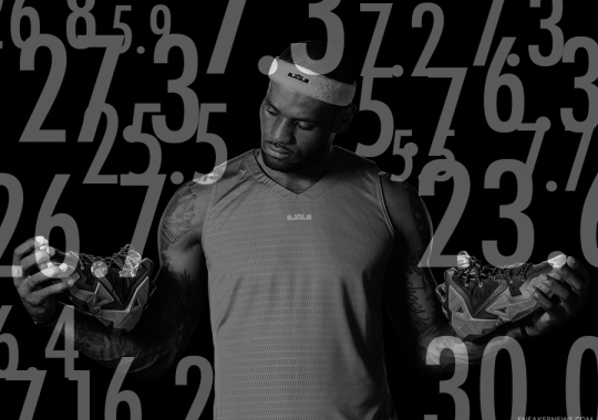 The Numbers Behind LeBron's 2013-2014 NBA Sneaker Rotation
