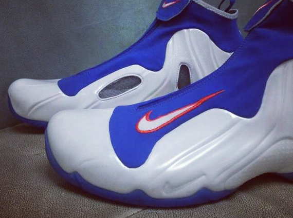 One of the rarest PEs in all of Nike Basketball history (before the LeBron  craze) is this sick Nike Air Flightposite One in the Knicks colorway e5b2468de0
