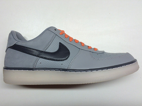 separation shoes 0319e 07f9b Nike Air Force 1 Downtown – Silver – Dark Grey – Atomic Orange