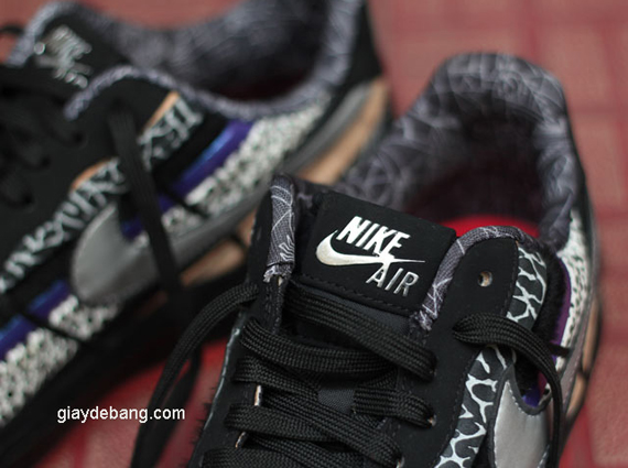 Nike Air Force 1 Mid Nero / Squadra Di College Rossa / Gumbo ADshiBqwy