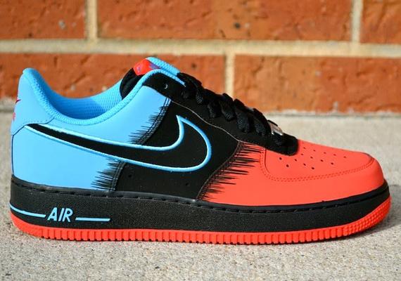 "e7c68ba4ab4 Nike Air Force 1 Low ""Spider-Man"" Color  Light Crimson Black-Vivid Blue  Release Date  02 08 2014. Price   100"