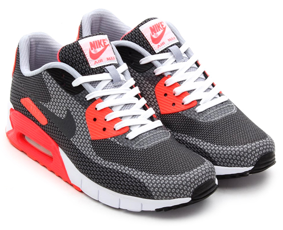 9ac07d260e Nike Air Max 90 JCRD Color: White/Cool Grey-Infrared-Black Style Code:  631750-100