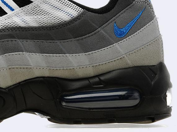 new style 0b2df 51b7e black and blue nike air max 95