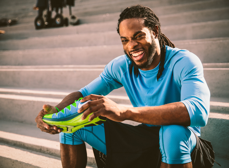richard sherman has some words about the nike flyknit lunar2 rh sneakernews com