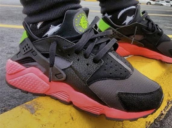 Nike Huarache Aire Antracita Negro Hiper Golpe De Color Rosa Verde Yeezy qj4MIcsv6