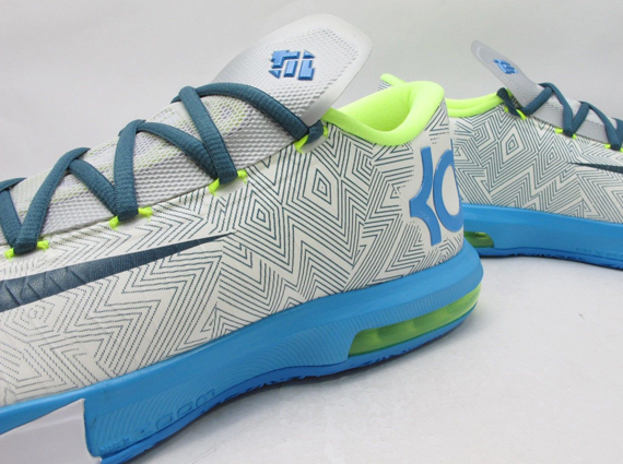 36858ea9c4f2b Nike KD 6. Color  Pure Platinum Night Factor-Vivid Blue-Volt Style Code   599424-009. Release Date  02 22 2014. Price   130