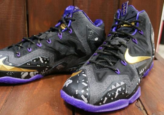 "Nike LeBron 11 ""BHM"" – Anthracite – Metallic Gold – Purple Venom"