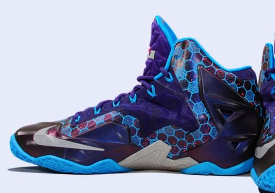Nike LeBron 11 – Court Purple – Reflective Silver – Vivid Blue