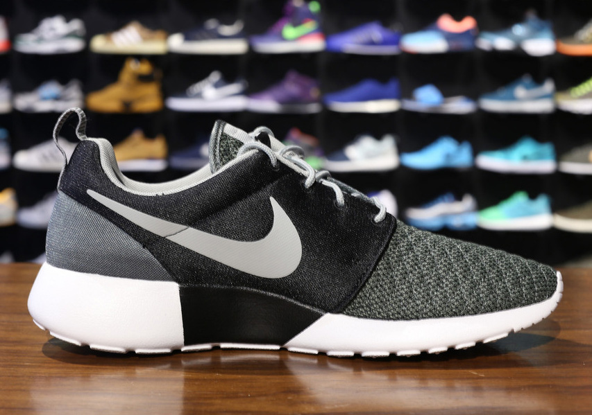 814043af66d1 Nike Roshe Run Premium - Dark Mica Green - Black - Base Grey -  SneakerNews.com