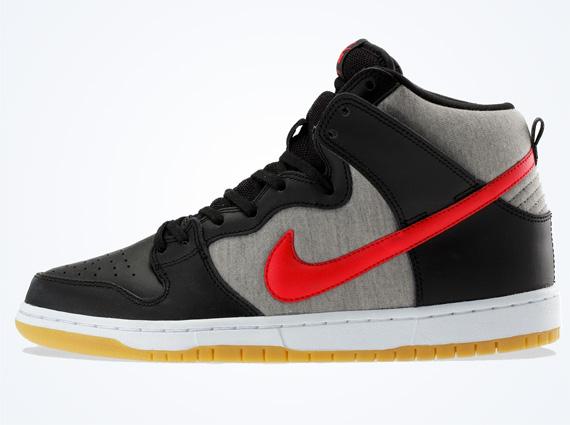 Nike Sb Dunk High Nero Rosso gb8j2AkFL