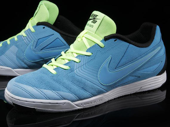 reputable site 40849 93040 Nike SB Lunar Gato – Vivid Blue – Volt Ice – Black