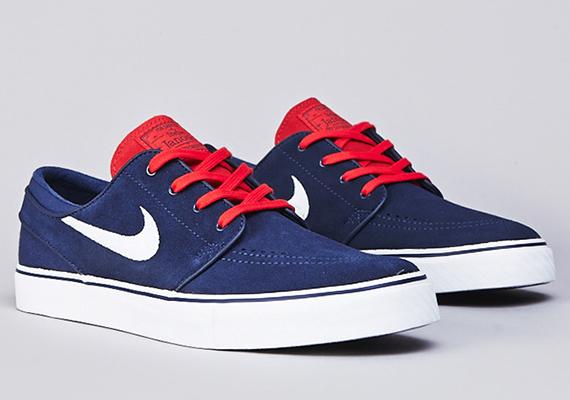 Nike Sb Stefan Janoski Rojo De Encaje Azul 99RnrYm