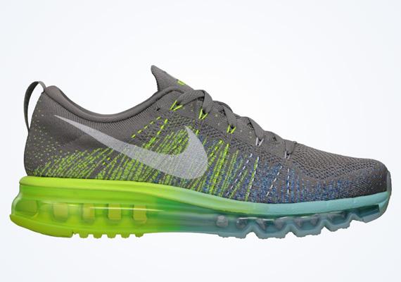 newest fcdea ef605 Nike WMNS Flyknit Air Max – Light Charcoal – Sail – Volt – Glacier Ice