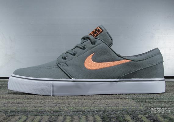 new concept 10399 7564e Nike SB Stefan Janoski – Dark Mica Green – Atomic Orange