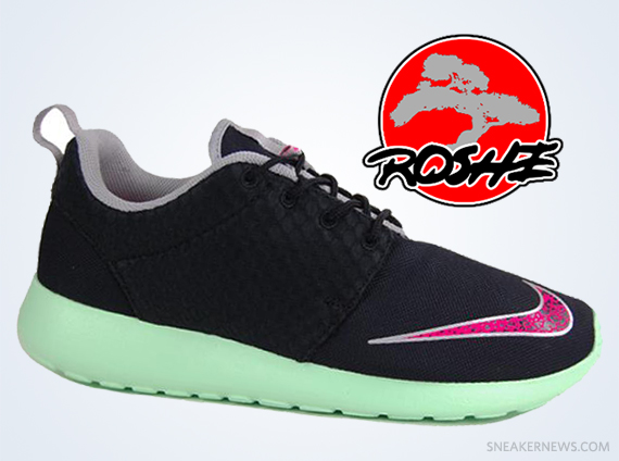 """new styles 15535 cabcd ... Black Pink Mint Nike Roshe Run FB Yeezy. Nike Gives TeamRoshe an  """"Exclusive"""" on the Yeezy ..."""