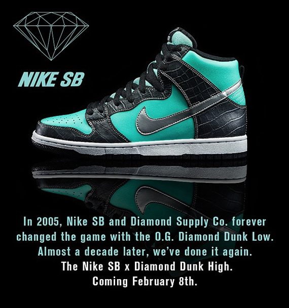 c5ff98d81fb6 Nicky Diamonds Officially Unveils the Diamond Supply Co. x Nike SB Dunk High