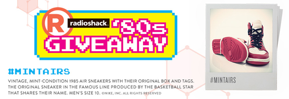 Win Original Air Jordan 1s from RadioShack's 80s Giveaway