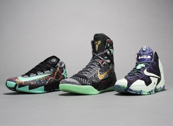 Nike Zoom Kobe 6 Kids Basketball Shoes All Star Challenge Red Black 448693  600