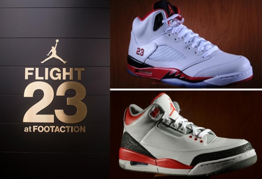 "Jordan Brand Flight 23 NYC Restocks ""Fire Red"" Air Jordans"