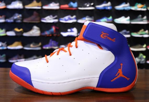Jordan Melo 1.5. Color: White/Team Orange-Game Royal Style Code:  631310-108. Price: $130