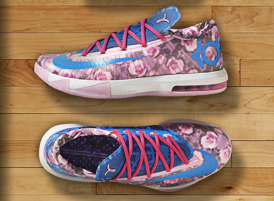 dc260ca3621 Nike Honors Aunt Pearl with the Floral KD 6 - SneakerNews.com