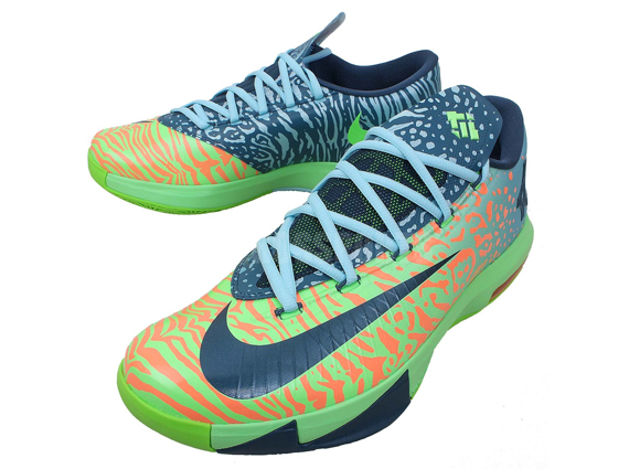 "Nike KD 6 ""Liger"" Color  Electric Green Night Factor-Atomic Orange Style  Code  599424-302. Release Date  03 01 14. Price   130 eda27fd59cc2"