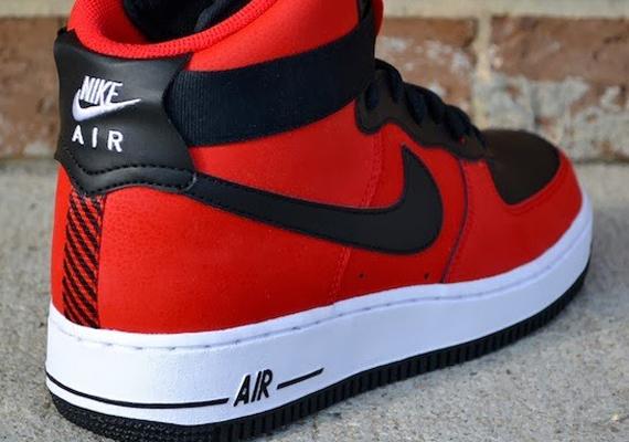 Nike Air Force 1 High University Red Black Sneakernews Com