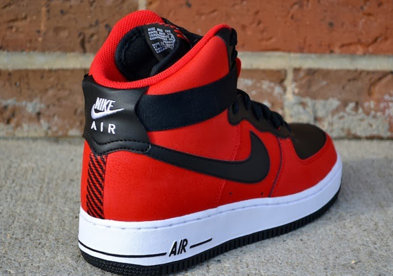Nike Air Force 1 High University Red Black Sneakernews Com