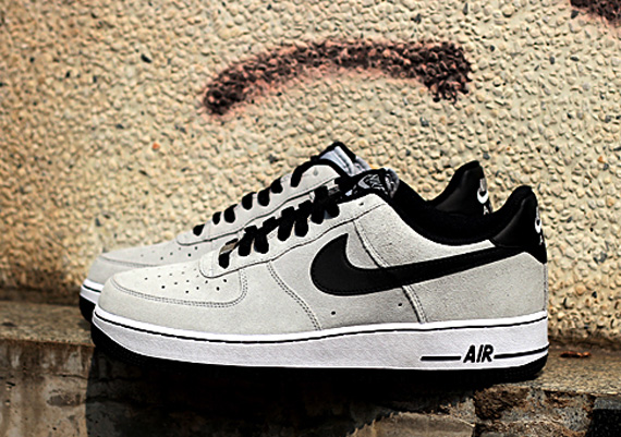 reputable site fd28c 8d0a7 Nike Air Force 1 Low - Grey Suede - Black - White - SneakerN