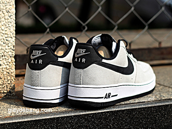 268e8452f1d844 Nike Air Force 1 Low - Grey Suede - Black - White - SneakerNews.com