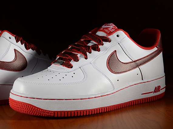 Nike Air Force 1 Air Force Ones Rosso Basse Bianco / Università Qt9Hs8BK