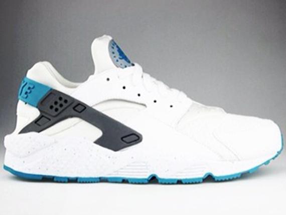 Nike Air Huarache White Turbo Green