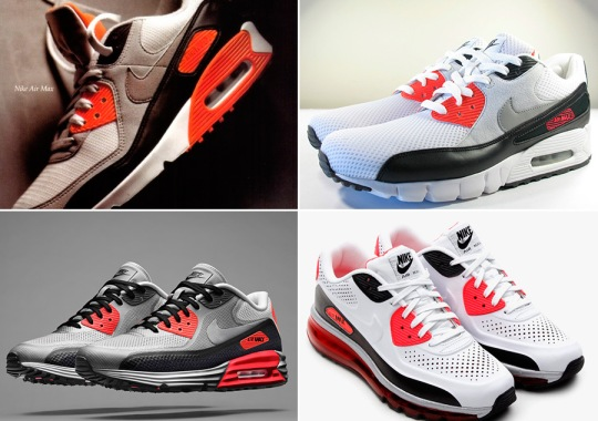 """Infra-evolution: The Nike Air Max 90 """"Infrared"""" in All Its Forms"""