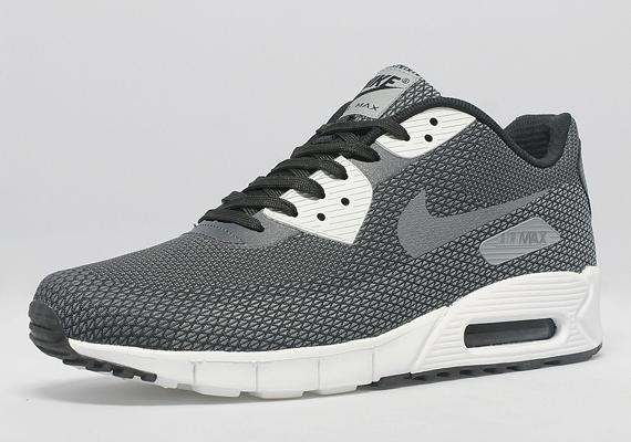 wide varieties differently outlet Nike Air Max 90 Jacquard - Black - Cool Grey - Dark Grey ...