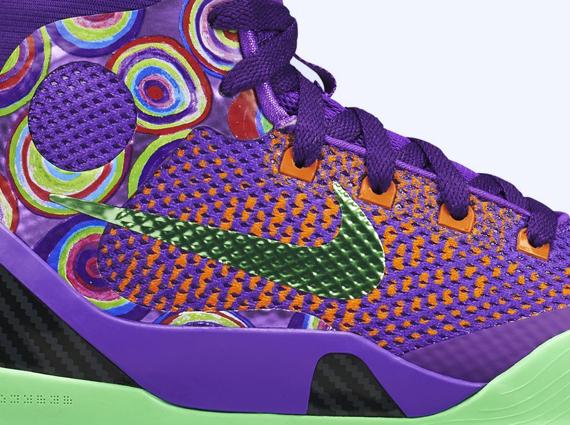 nike kobe 9 elite gs venom purple orange green Nike Kobe 9 Elite GS Purple Venom