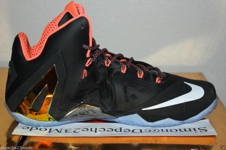 nike lebron 11 elite black mango sneakernewscom