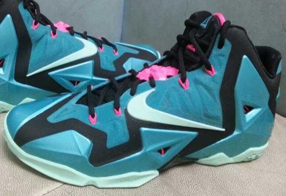 17c411a663480 Nike LeBron 11 - Teal - Pink - Black - SneakerNews.com
