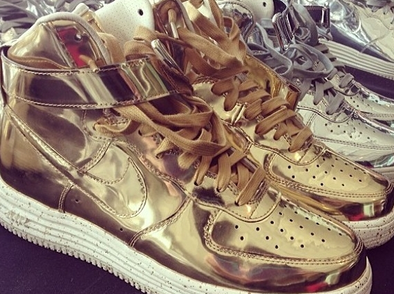 """new product bfd72 32457 Nike Lunar Force 1 High """"Liquid Metal Pack"""""""