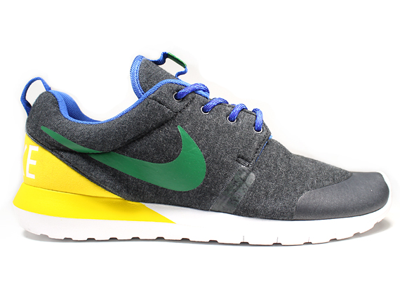 1010799760b8 Nike Rosherun NM W SP Color  Black Heather Pine Green-Tour Yellow Style  Code  652804-037. Release Date  04 05 14. Price   125