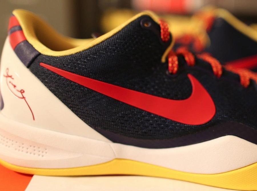 Nike Zoom Kobe VIII 8 ELITE Orange/Green Basketball Shoes on sale