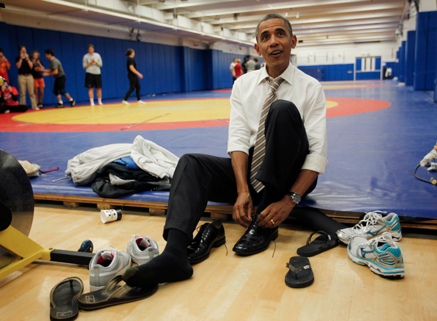 Obama New Nike Shoes